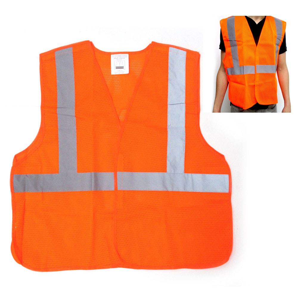 """Click here to buy Reflective Safety Vest 2"""" Silver Striping Visibility Construction Warehouse New by SONA ENTERPRISES."""