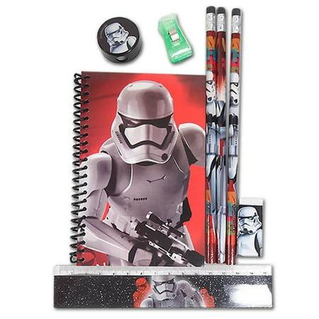 Disney Star Wars The Force Awakens Stormtrooper School Stationery Set for
