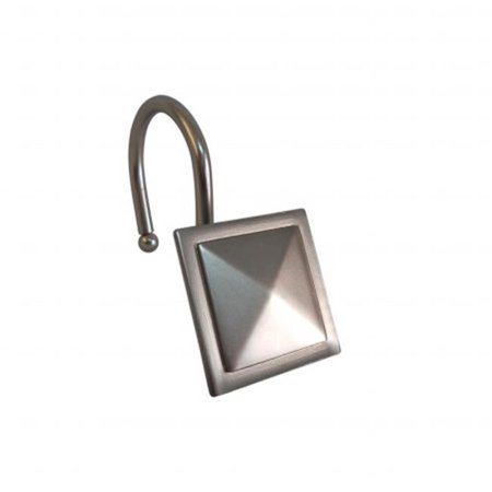 Shower Hooks - Square Diamond - Satin Nickel