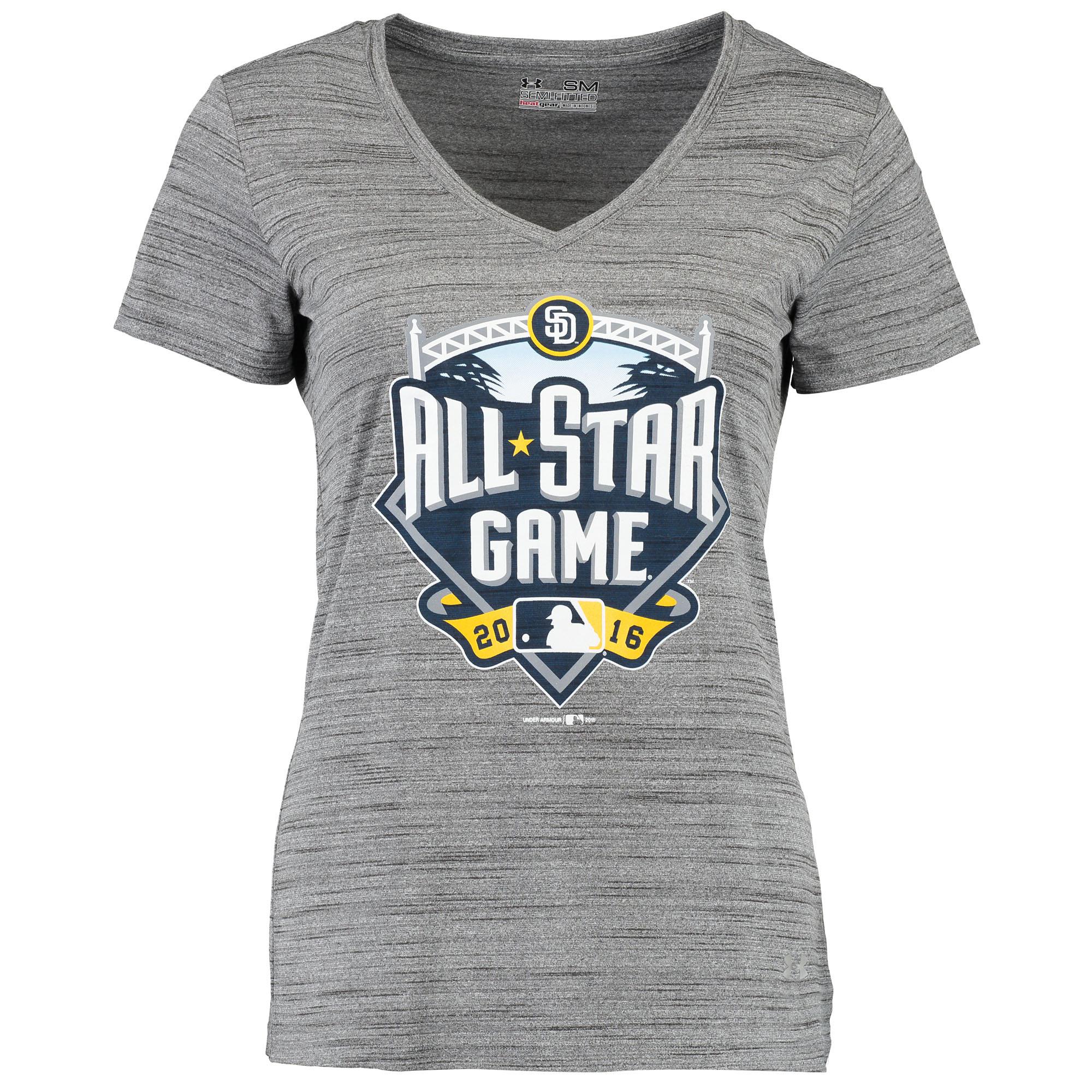 Under Armour Women's 2016 MLB All-Star Game Novelty V-Neck T-Shirt - Gray