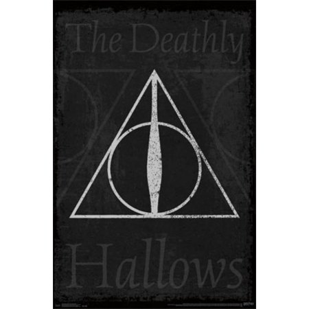 Harry Potter Deathly Hallows Symbol Poster Print Walmart