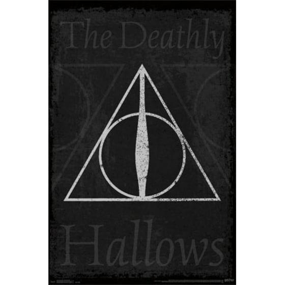 Harry Potter Deathly Hallows Symbol Poster Print Walmart