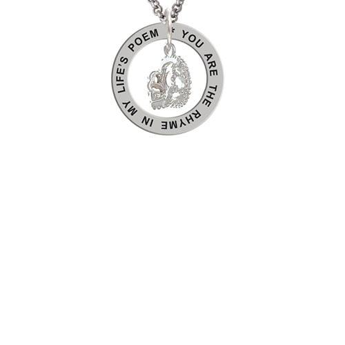 3-D Tiara Life's Poem Affirmation Ring Necklace