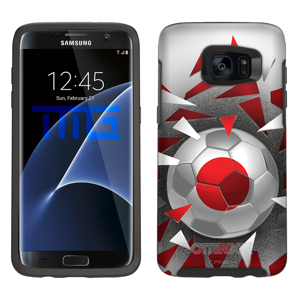 Skin Decal for Otterbox Symmetry Samsung Galaxy S7 Edge Case Soccer Ball Japan... by Trek Media Group
