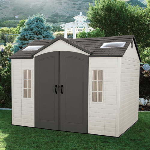 Lifetime Side 10 ft. W x 8 ft. D Plastic Storage Shed