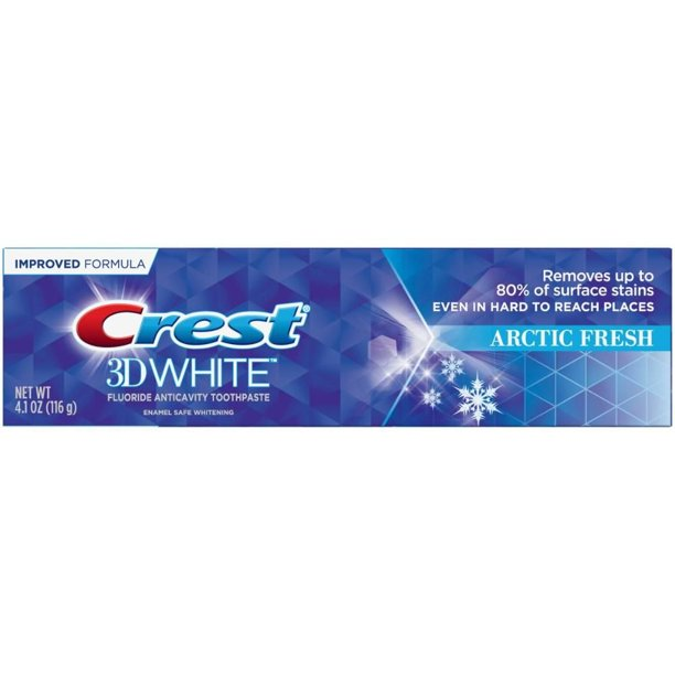 Crest 3d White Arctic Fresh Whitening Toothpaste 4 8 Oz Walmart