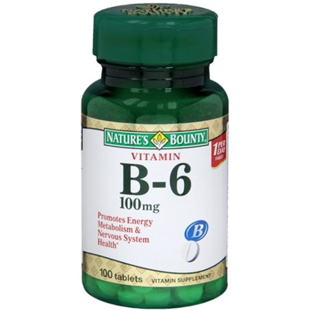 Nature's Bounty Vitamine B-6 100 mg Comprimés 100 Comprimés (Pack de 3)