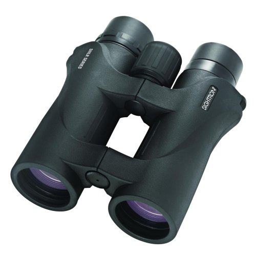 Sightron 10x42mm SIII LR Series, Water Proof Porro Prism Binocular with 5.0 Degree Angle of View, Low Dispersion Glass, Black Rubber