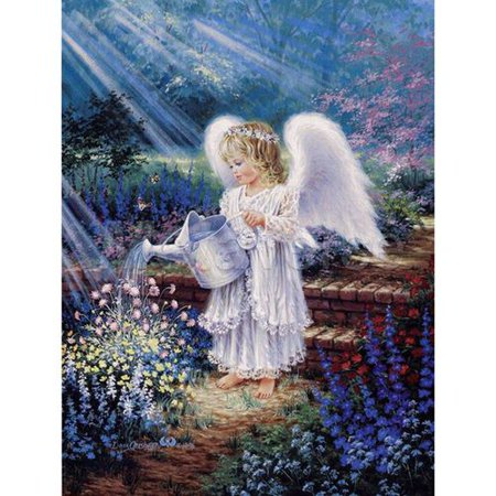 Fancyleo DIY 5D Diamond Painting Angel  Girl  Wings Kits for Kids Crystal Rhinestone Embroidery Cross Stitch Diamond for Home Wall - Angel 1 Embroidery