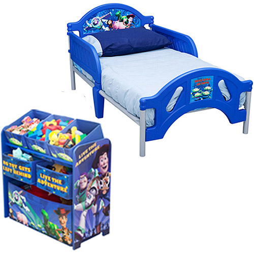 Toy Story Toddler Bed.Disney Toy Story Toddler Bed And Multi Bin Organizer Bundle Walmart Com