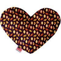 Halloween Candy Confetti 8 Inch Canvas Heart Dog Toy