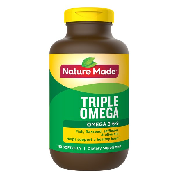 Nature Made Triple Omega 3 6 9 Softgels 180 Count For Heart