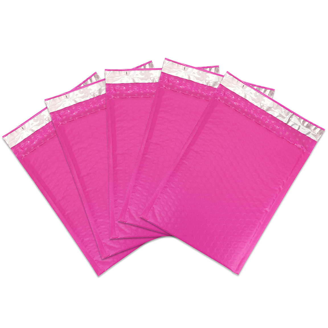 """Beauticom Pink (30 Pieces) 6""""x9"""" Self-Seal Poly Bubble Mailer Envelopes Eco Friendly Lightweight Made in The USA"""