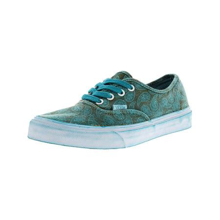 1bd29fec8c Vans - Vans Authentic + Overwash Paisley Turquoise Ankle-High Canvas Skateboarding  Shoe - 8.5M   7M - Walmart.com