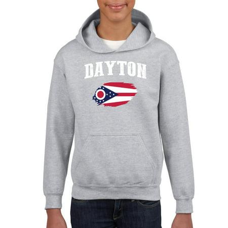 Dayton Ohio Youth Hoodie Hooded (The Green Dayton Ohio)