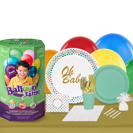 Oh Baby 16 Guest Party Pack and Helium Kit - Helium Container