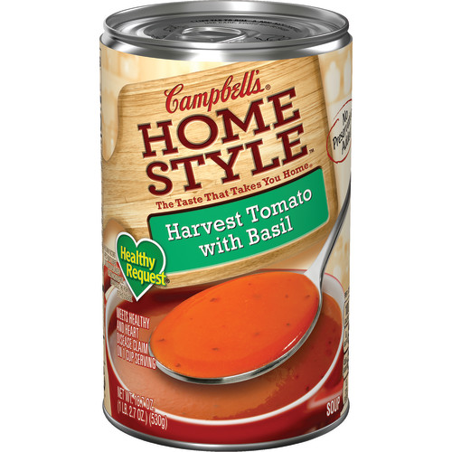 Campbell's Homestyle Healthy Request Harvest Tomato with Basil Soup, 18.7 oz.