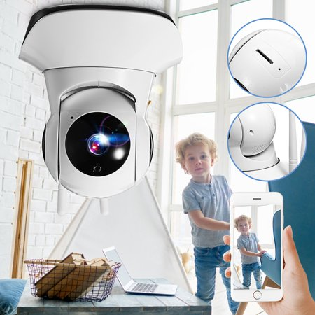 Wireless IP Camera 1080P HD WiFi Indoor Security Camera with Night Vision Security Rotatable Infrared Camera,Voice Intercom Surveillance,Motion Detection