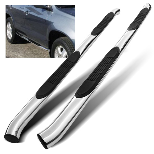 "Modifystreet 3"" Inches Stainless Steel Side Step Bar Nerf Bar Running Board for 01-06 Acura MDX/03-08 Honda Pilot - Chrome"