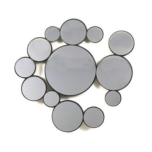 Ashton Sutton Contemporary Bubbles Wall Mirror