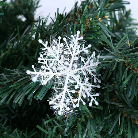 Hilitand Christmas Tree Decoration 3D Snowflakes Hanging Ornaments Holiday Party Home Decor Accessories,Christmas snowflakes ornaments, Christmas