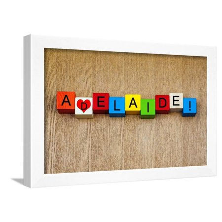 I Love Adelaide, Australia - Sign Series for Travel and Holidays Framed Print Wall Art By (Frame Shop Adelaide)