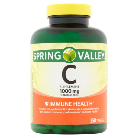 Spring Valley: La vitamine C naturelle w / églantier supplément alimentaire, 250 Ct