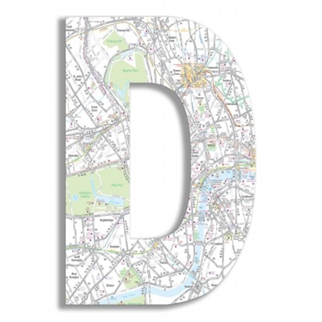 Stupell Industries OHI-116-D London Map 18 Inch Hanging D