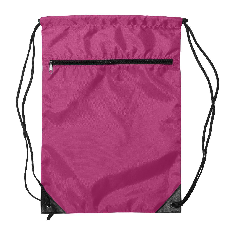 8888 Denier Nylon Zippered Drawstring Backpack