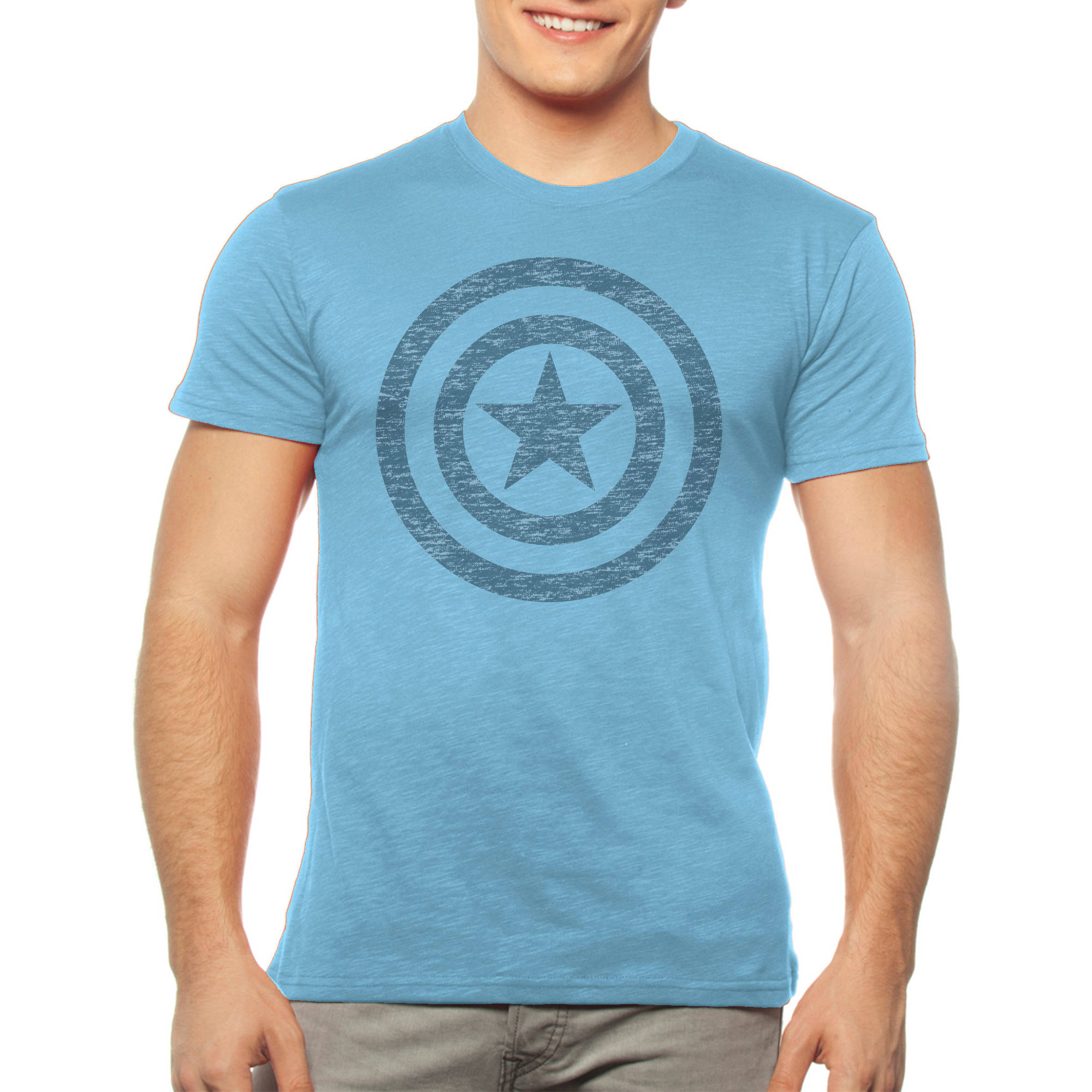 Marvel Men's Captain America Shield Logo Short Sleeve Graphic Tee
