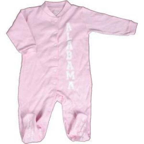 Alabama Crimson Tide Infant Footsie Pajamas - Pink