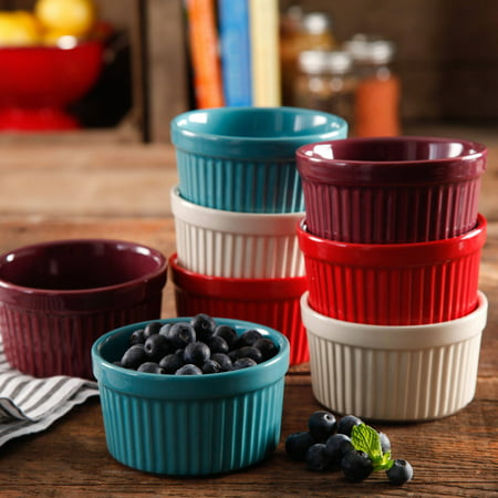 The Pioneer Woman Flea Market Solid 9 oz Ramekins, Solid Colors, Set of (Round Ramekin)