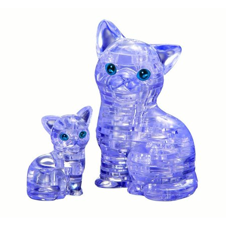 3d Wooden Puzzle Airplane (Standard 3D Crystal Puzzle - Cat & Kitten (clear) )