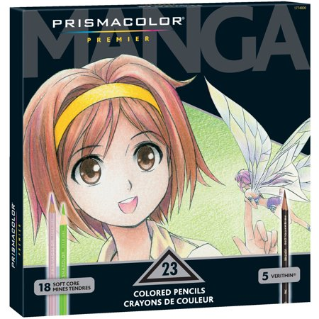 Prismacolor Premier Manga Colored Pencil Set, 23 Assorted Colors