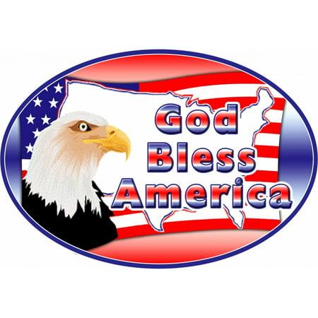 God Bless America Magnet For Car or
