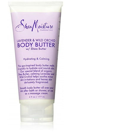 SheaMoisture Lavender & Wild Orchid Body Butter, 6
