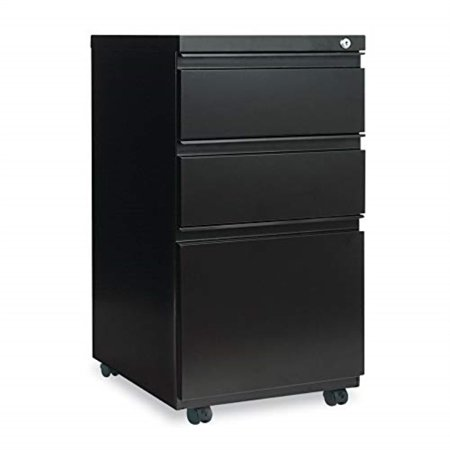 alepb532819bl - best three-drawer mobile pedestal file w/ full-length pull Full Pull Utility Drawer