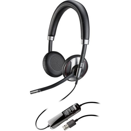 Plantronics Blackwire 725 Corded Usb Headset With Active Noise Canceling - Stereo - Usb - Wired - 20 Hz - 20 Khz - Over-the-head - Binaural - Supra-aural