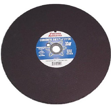 Virginia Abrasives 424-10914 Ductile Iron Bonded Cutting Blade Or Wheel - 14 in. x 0.12 in. x 20 Mm.