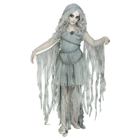 Girls Enchanted Ghost Gothic Halloween Costume](Ghostship Halloween)