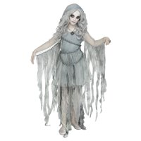 Girls Enchanted Ghost Gothic Halloween Costume