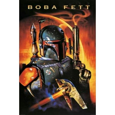 Star Wars - Movie Poster (Boba Fett & Death Star) (Size: 24