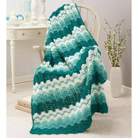 Herrschners®  Sea Foam Crochet Afghan Kit