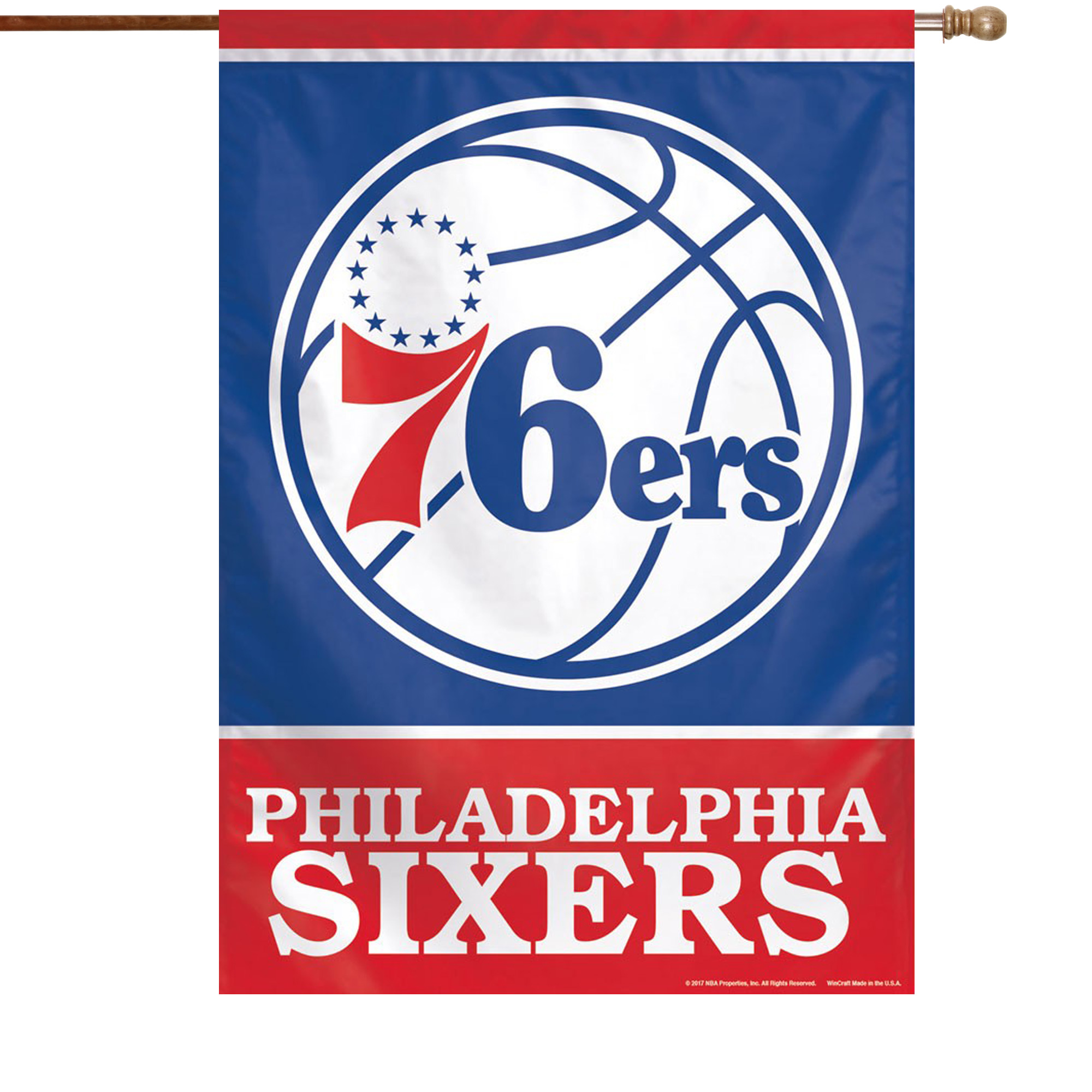 "Philadelphia 76ers WinCraft 28"" x 40"" Primary Logo Single-Sided Vertical Banner - No Size"