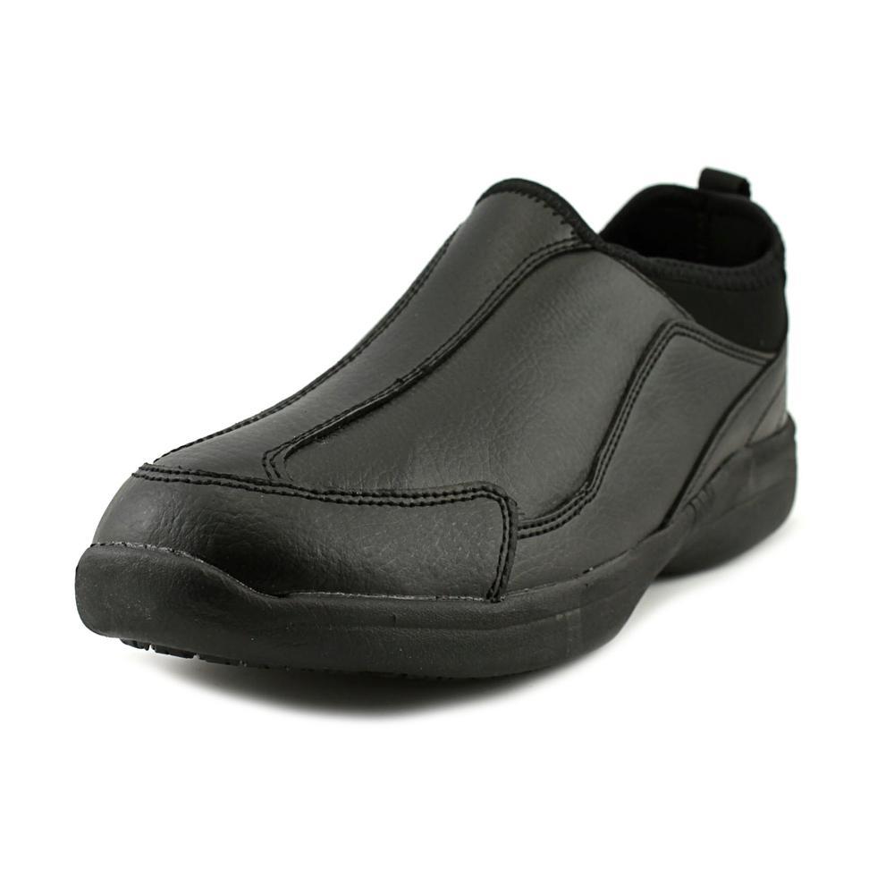 Tred Safe Bev Women Round Toe Leather Black Loafer