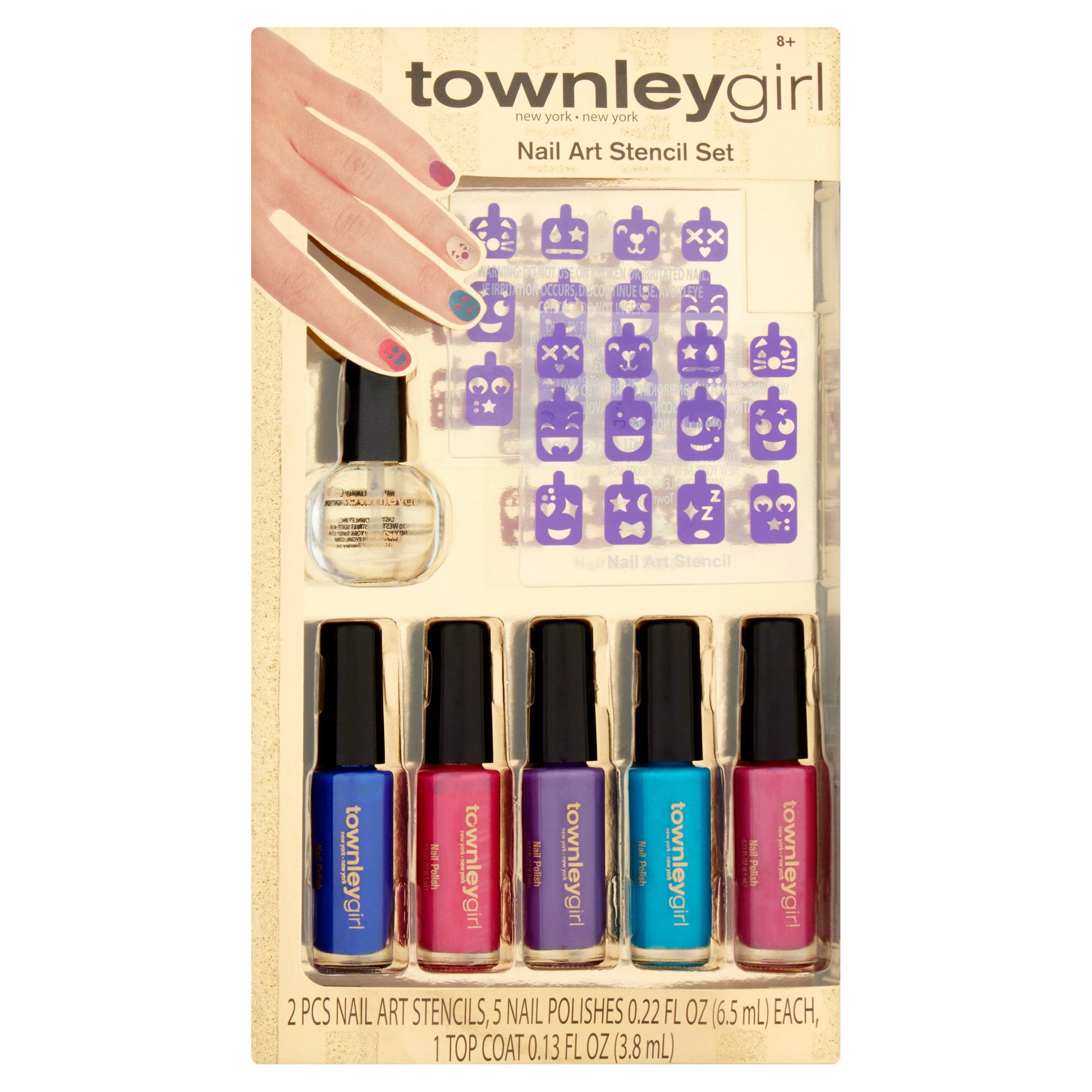 Townley Girl Nail Art Stencil Set - Walmart.com
