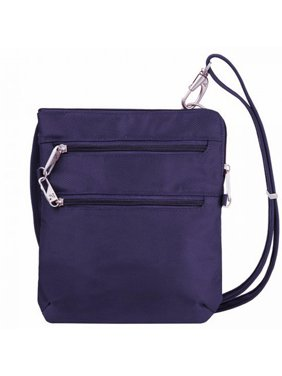 4752603cdb Product Image Anti-Theft Classic Slim Double Zip Crossbody Bag-Purple Anti- Theft Classic Slim