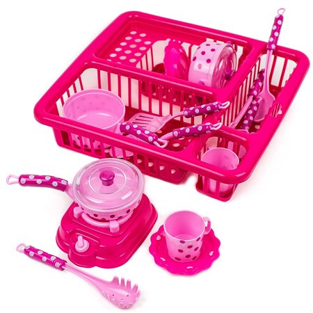 Toysery Pretend Play Kitchen Set Fun Cooking Toy Set for Children Girls Boys With Cooking Accessories And Drainer (Kid Toys For Girls)