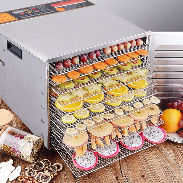 Ghp 1000w Commercial Chrome Stainless Steel Food Dehydrator With