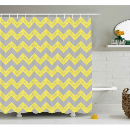 Chevron Shower Curtain Zig Zag Pattern With Tribal Native American Arrows Primitive Abstract Design